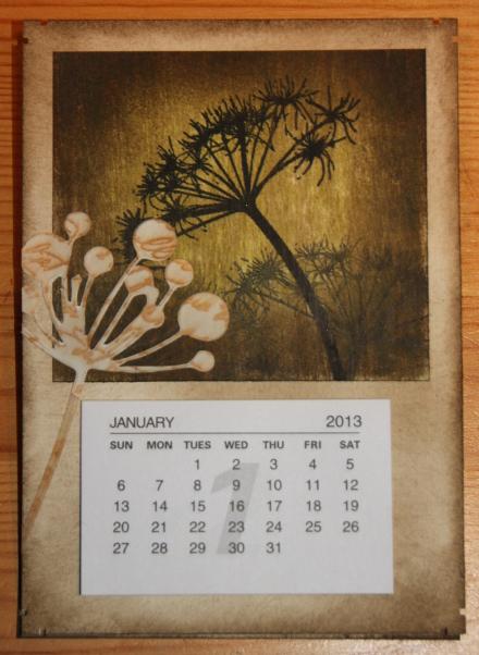Kalender Blume easel