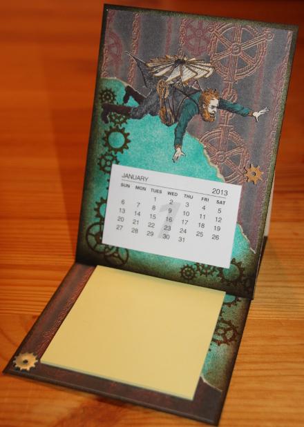 Kalender PostIt easel Steampunk