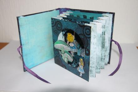 Alice Kulissenbuch geöffnet Leporelloansicht