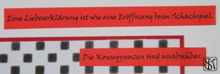 Schachhochzeit Detail Text