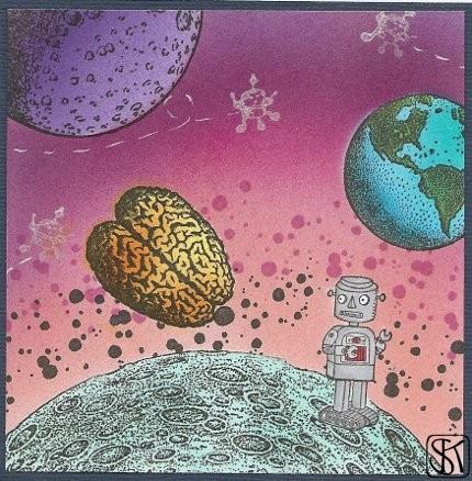 ein gehirn von der größe eines planeten