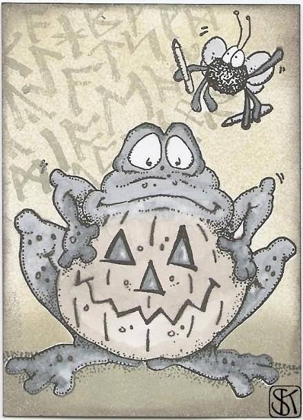 Halloween Frosch